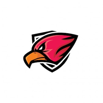 Esporte eagle cabeça mascote logotipo