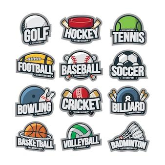 Esporte logotipo ilustração vector