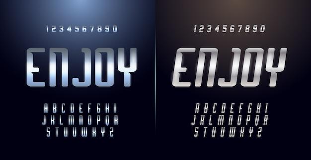 Esporte moderno alfabeto fonte e número. fontes de estilo urbano de tipografia