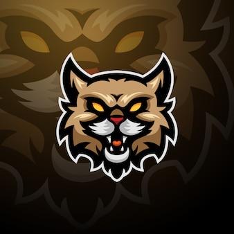 Esporte selvagem do jogo do logotipo do gato