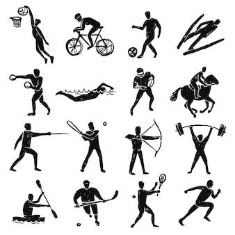 Esporte sketch pessoas set