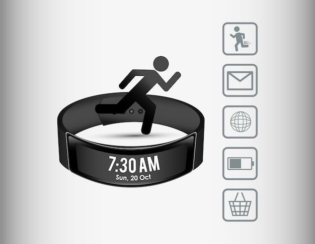Esporte wearable esperto da tecnologia do wristband