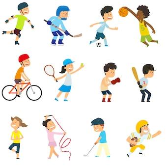 Esportes as crianças estão ativamente envolvidas no esporte.