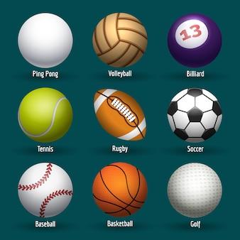 Esportes, bolas, ícones