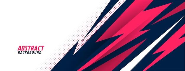 Esportes estilosos com formas geométricas nítidas