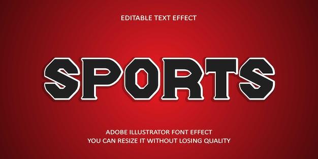 Esportes texto editável efeito