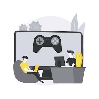 Esports coaching ilustração do conceito abstrato.