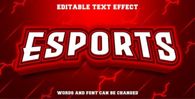 Esports de efeitos de texto editáveis