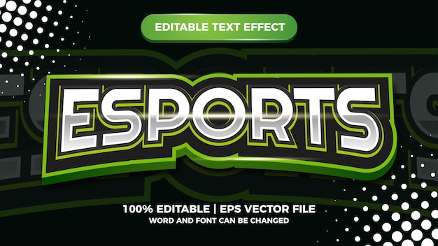 Esports efeito de texto editável