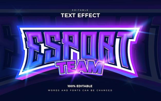 Esports efeitos de texto editáveis