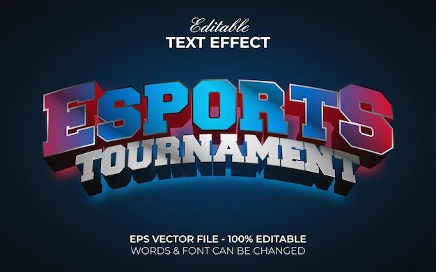 Esports estilo de efeito de texto efeito de texto editável