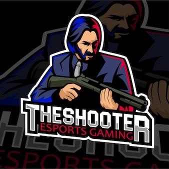 Esports gaming logo badge shooter
