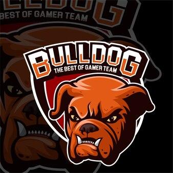 Esports gaming logo bulldog animais