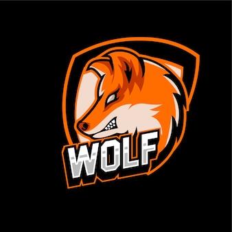 Esports gaming logo team lobo animais