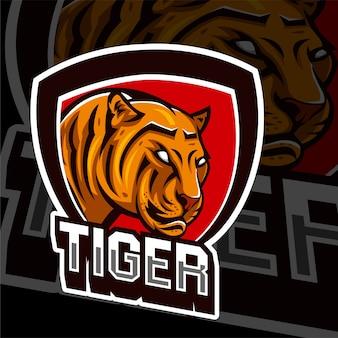 Esports gaming logo tigre animais