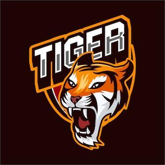 Esports logo gaming animais tigre