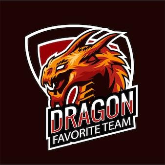 Esports logo gaming dragon
