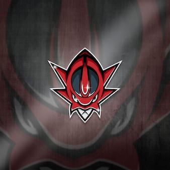 Esports mascot logo team red monster squad