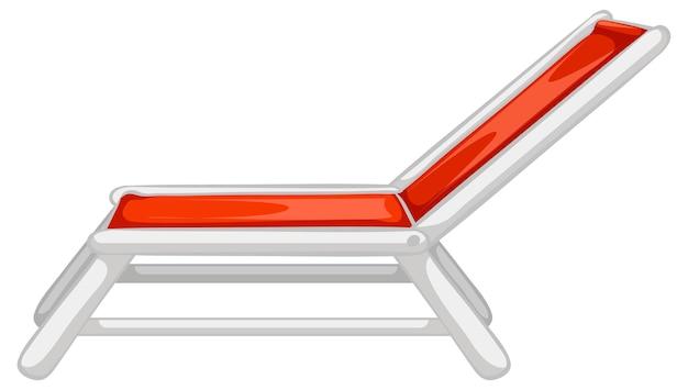 Espreguiçadeira ou cadeira de praia isolada no fundo branco