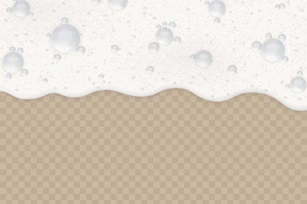 Espuma com bolhas
