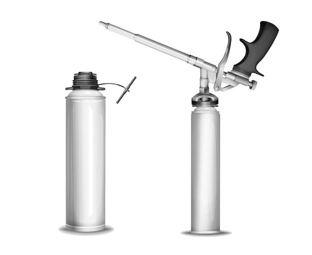 Espuma de construção de 3d pu pistola de pulverizador de espuma de poliuretano