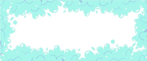 Espuma de sabão com bolhas. quadro de shampoo de desenhos animados e espuma de espuma de sabão.
