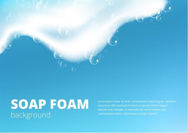 Espuma de sabão realista com shampoo de bolhas
