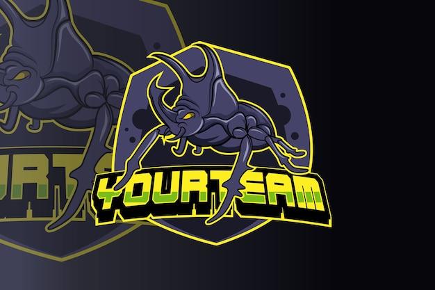 Esquadrão de besouro e vetor do logotipo do esporte