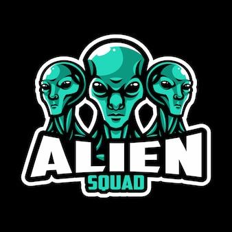 Esquadrão de logotipo de esporte alienígena