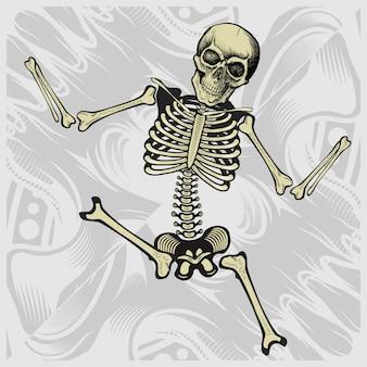 Esqueleto dançando