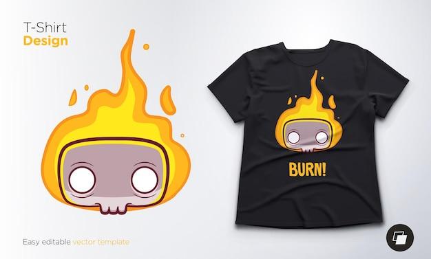 Esqueleto engraçado para camisetas