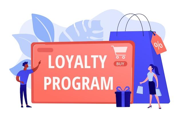 Esquema de recompensas para clientes. estratégia de marketing. atração de clientes