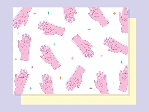 Esquerda mãos dia mãos mostrando cinco dedos gesto design