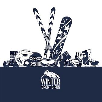 Esquiar. esportes radicais de inverno.