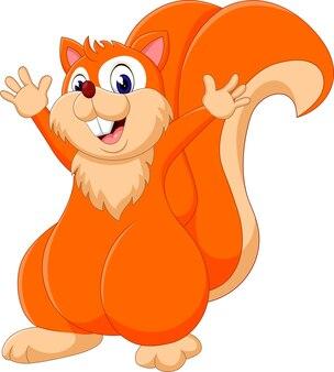 Esquilo bonito dos desenhos animados de ilustração
