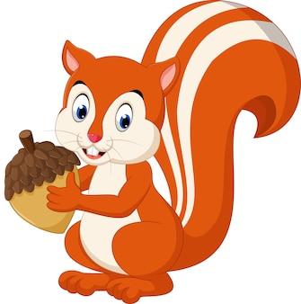 Esquilo bonito dos desenhos animados