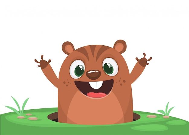 Esquilo engraçado dos desenhos animados