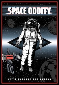 Esquisitice espacial, astronauta de galáxias, satélites de planetas