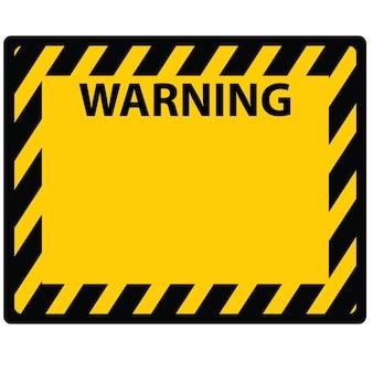 Esta é uma imagem ou sinal de placa de advertência e vetor de adesivo