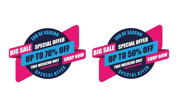 Esta oferta especial de fim de semana etiqueta grande venda