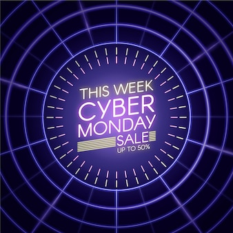 Esta semana luzes neon cyber segunda-feira