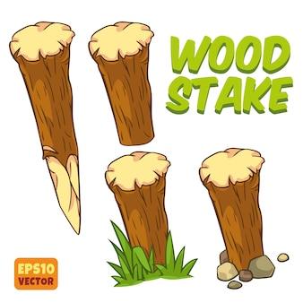Estaca de madeira