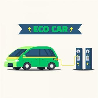 Estação carregador ecológico
