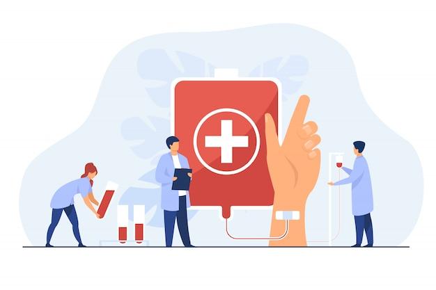 Estação de doação de sangue