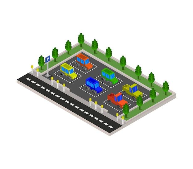 Estacionamento isométrico