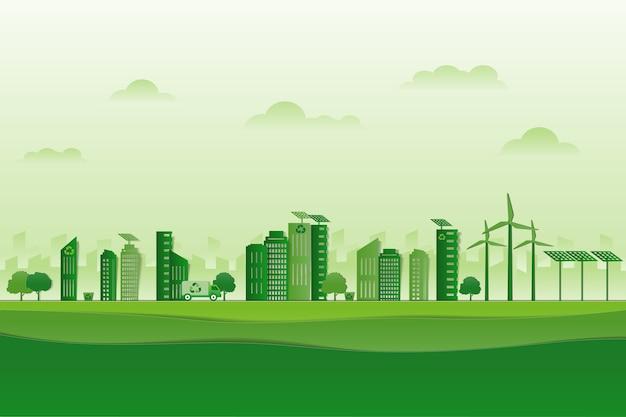 Estacionar em forma de cidade verde