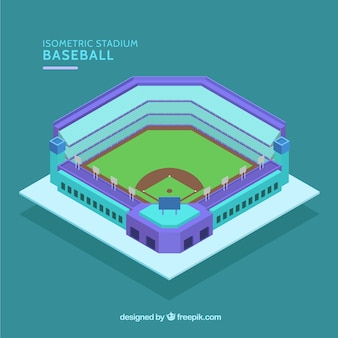 Estádio de beisebol em estilo isométrico