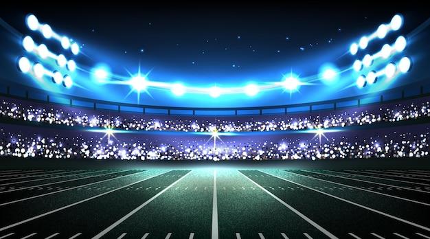 Estádio de futebol americano realista