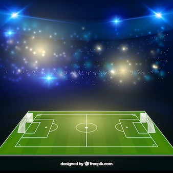Estádio de futebol em estilo realista