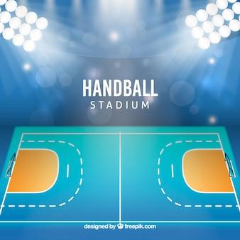 Estádio de handebol em estilo realista